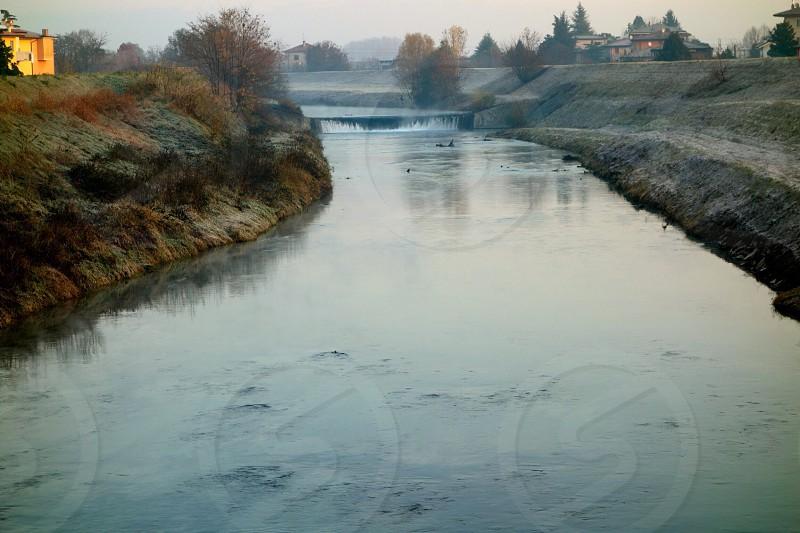Tesina river winter photo