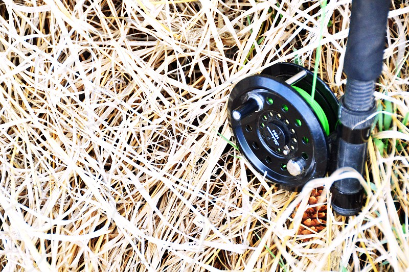Fly fishing rod ready for action. photo