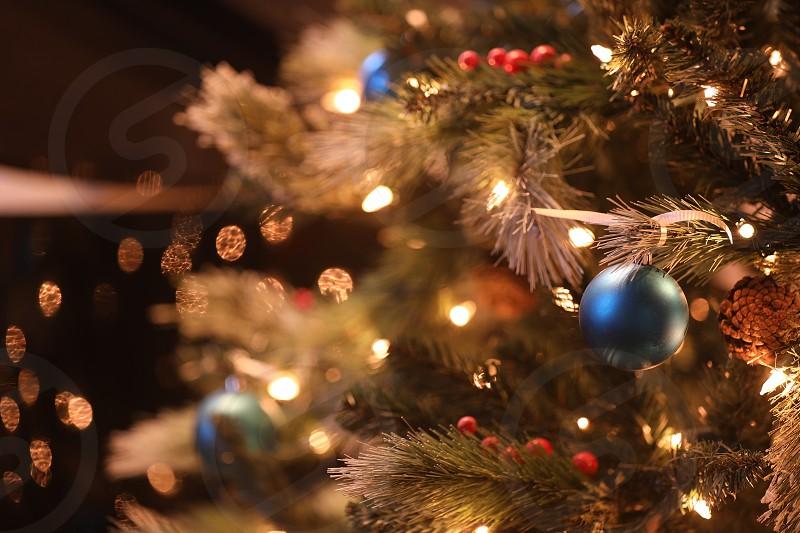 ChristmasChristmas treetreedecorationholidayseasonwinterwarmgoldgoldenornamentsbokehclose upbackground photo