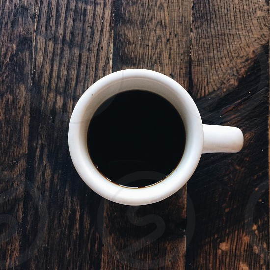 black coffee in cup photo