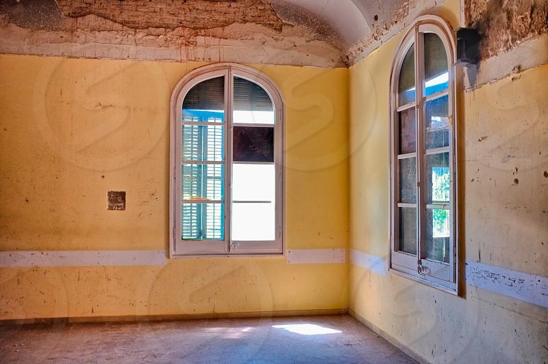 white wooden window photo