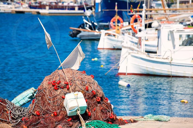 Fishing tackle in Formentera Mediterranean Balearic islands of Spain photo