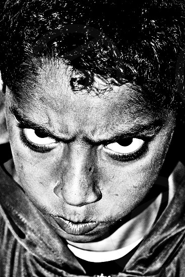angry face photo