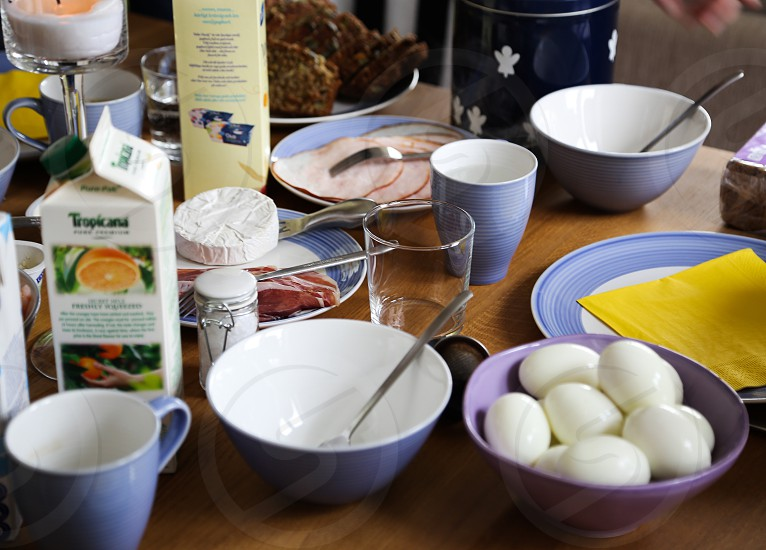 Morning routine breakfast photo