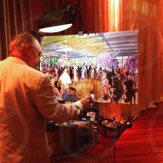 Wedding art painting  photo