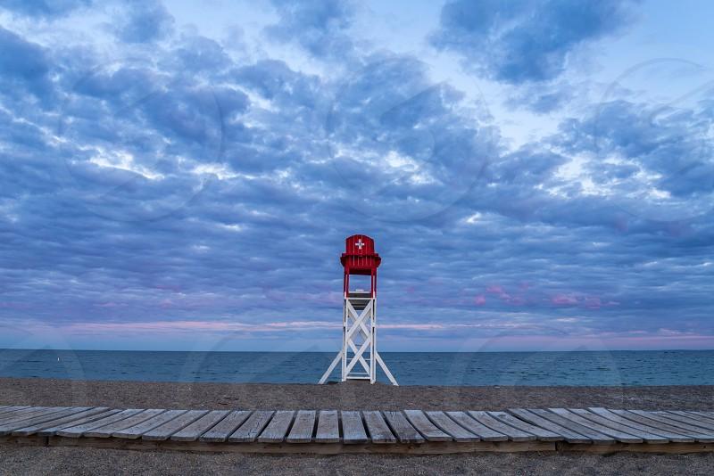 Devereux Beach at Sunset  photo