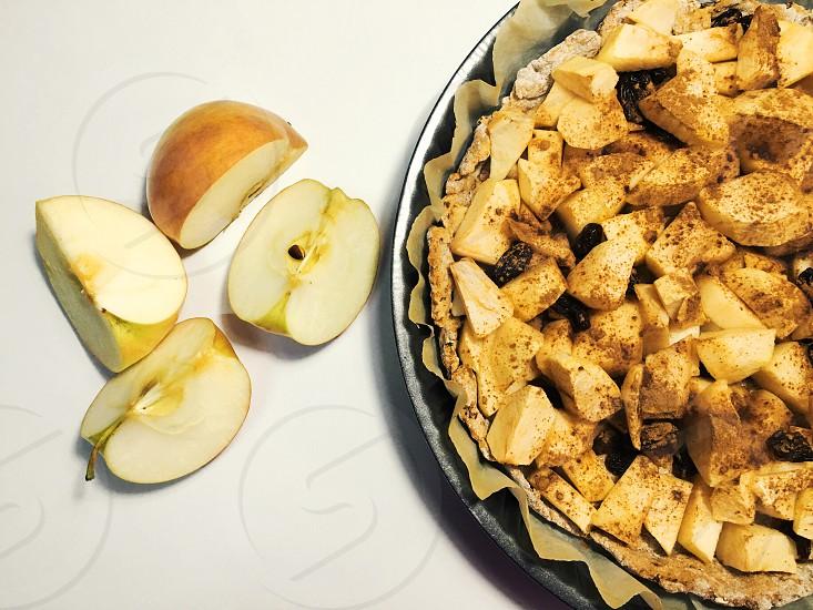 Apple pie apples tasty cinnamon dessert photo