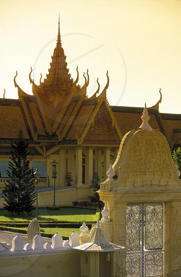 the Silver pagoda at the king palace in the city of phnom penh in cambodia in southeastasia.  photo