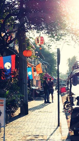 Street; Luangprabang; Laos; Asian; Tourist; Culture  photo