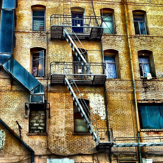 view of building emergency staircase photo