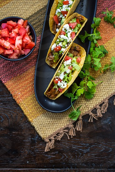 tacos on table setting photo