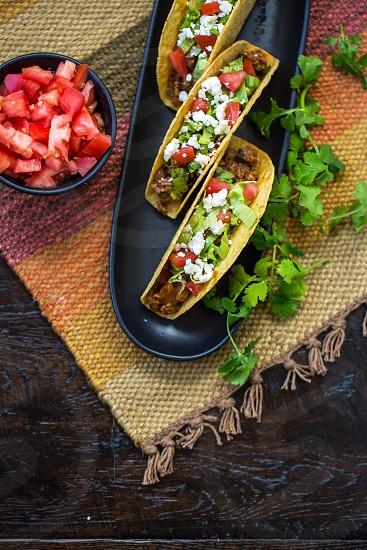 preparing Mexican food photo