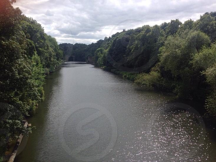 Durham riverside in autumn. photo