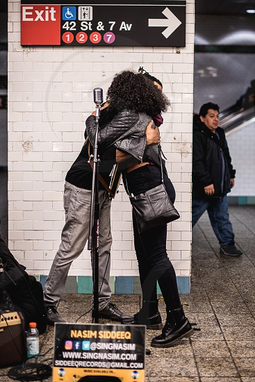 Street artists Big hug  photo