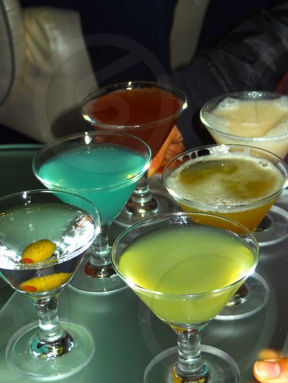 Martini Sampler. Girls night out. Friday night. photo
