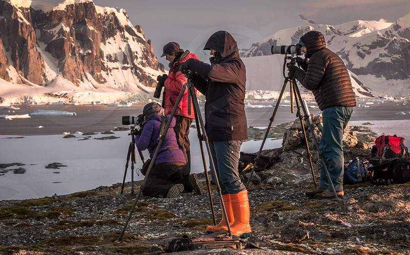 Photographers on the Antarctic Peninsula photo