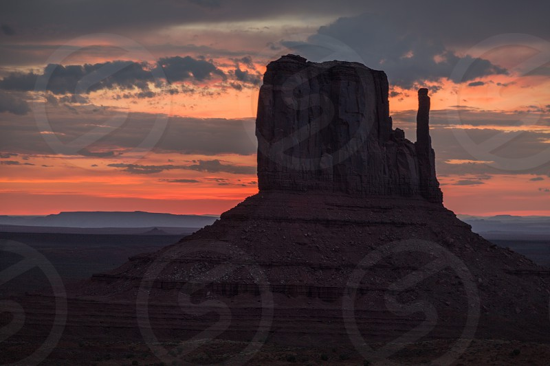 Monument Valley Tribal Park located in northern Arizona. photo