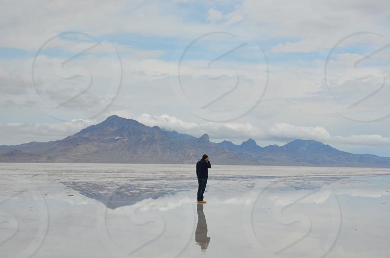 Salt Lake Bonneville Salt Flats  photo