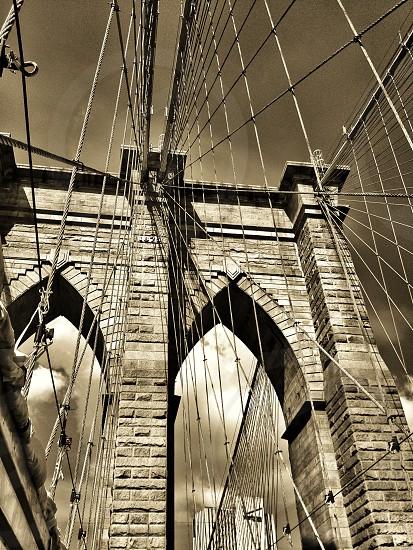 Brooklyn Bridge view from Brooklyn photo