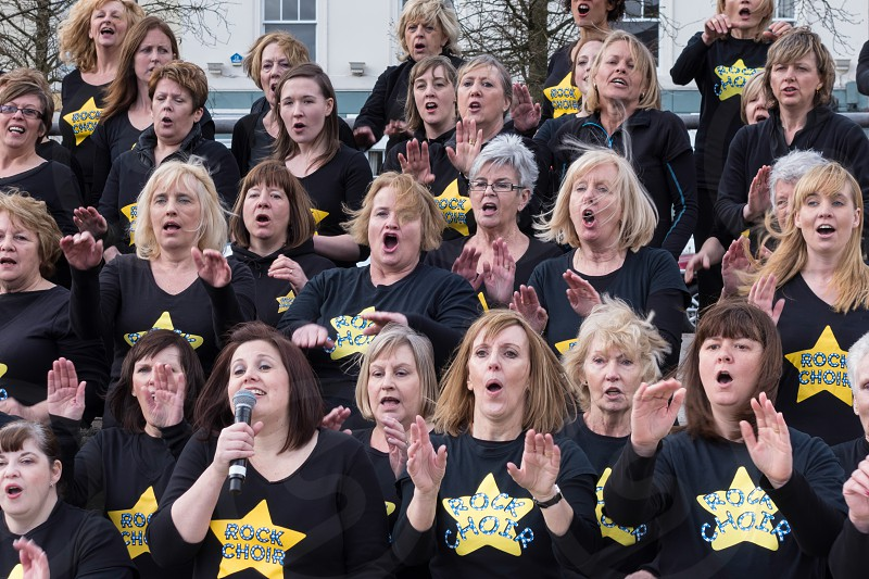 The Rock Choir Supporting Sport Relief Day and Entertaining the Crowds photo