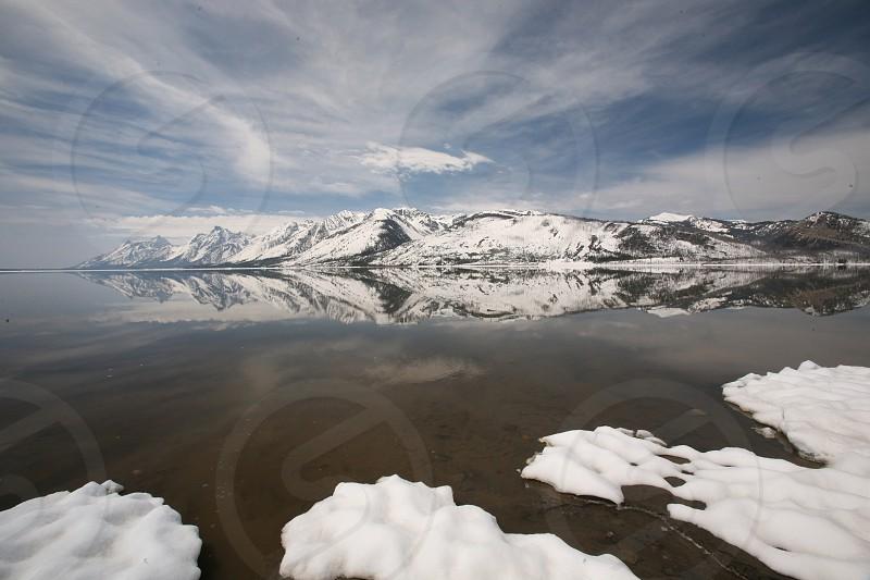 Grand Teton reflection photo