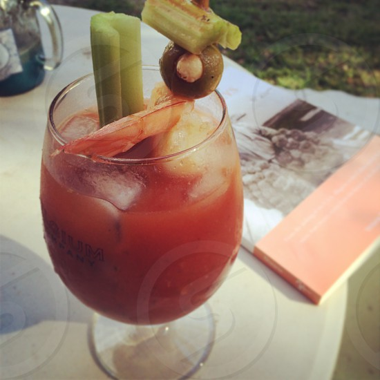 Bloody Mary and a book photo