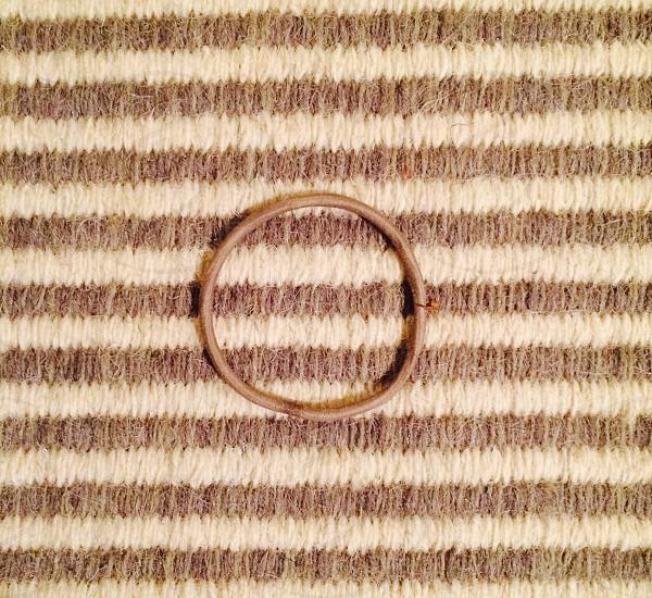 Hair ribbon on a carpet photo