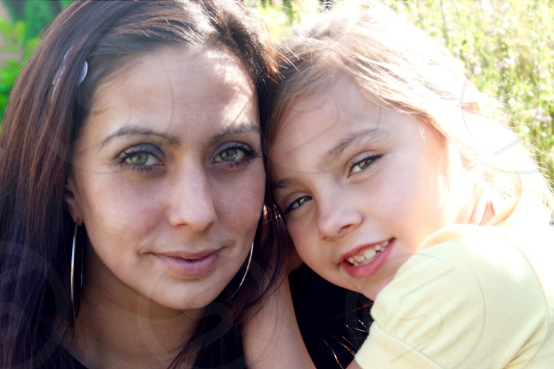 Young mother and daughter photo