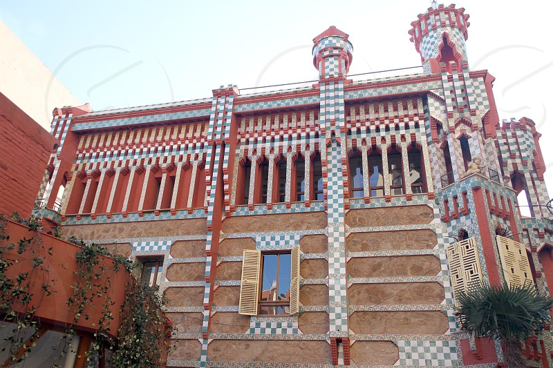 Casa Vicens house by architect Antoni Gaudí in Barcelona Catalonia - on of his earliest works recently opened to the public. photo