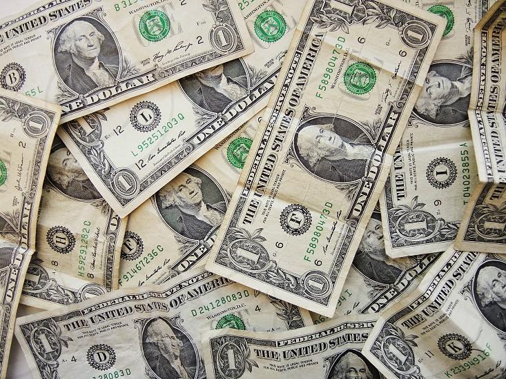 united states 1 dollar bills photo