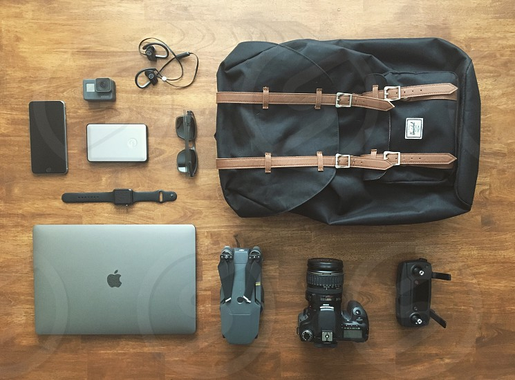Travel gear canon drone mavic mac Apple backpack equipment Hershel  photo
