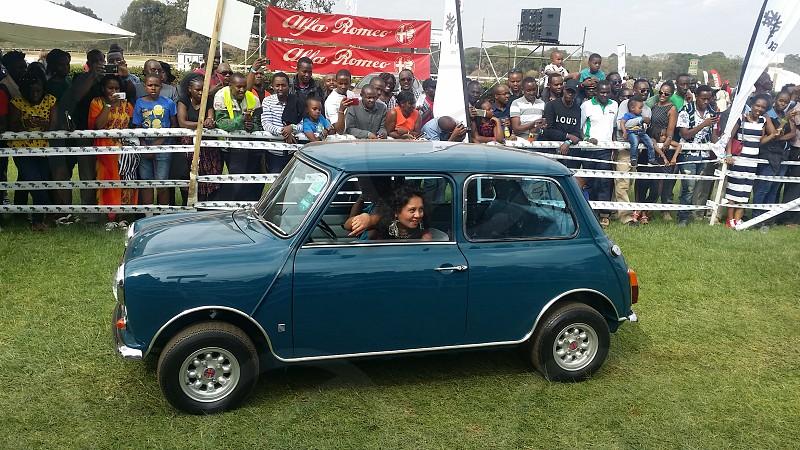 Vintage mini at the 2018 alfa romeo concours de elegance motor show in Ngong race course Nairobi Kenya. photo