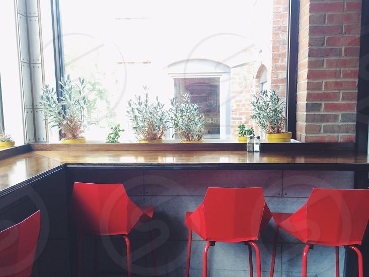 Kitchen coffee bar restaurant chairs interior decorating lighting  photo