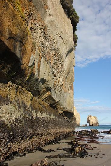 The Cliffs of Tunnel Beach  (Dunedin New Zealand) photo
