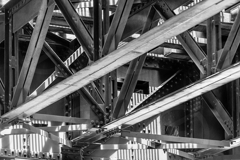bridge urban truss trusses rivets photo