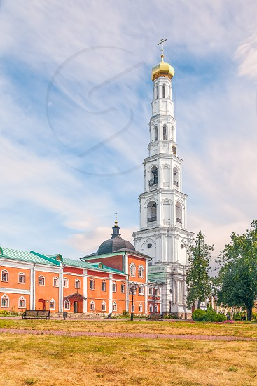 Church of the Beheading of John the Baptist with the Bell tower in the St. Nicholas Ugreshsky Monastery. City of Dzerzhinsky. Moscow Oblast. Russia photo