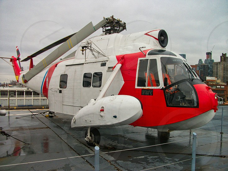 a cost guard helikopter in a museum duriing the tour photo