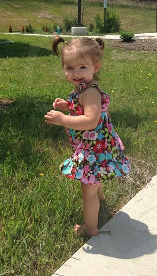 Cute baby girl photo