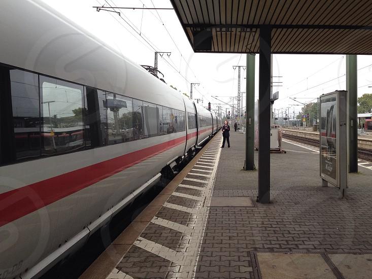 Train station in Frankfurt photo