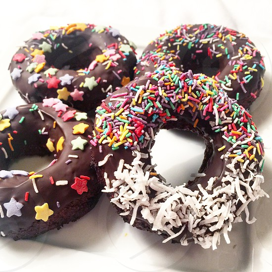 Donuts chocolate sprinkles dough bakery food foodie sugar candy sweets eat photo
