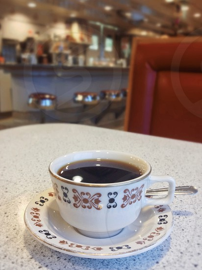 Coffee at a diner photo