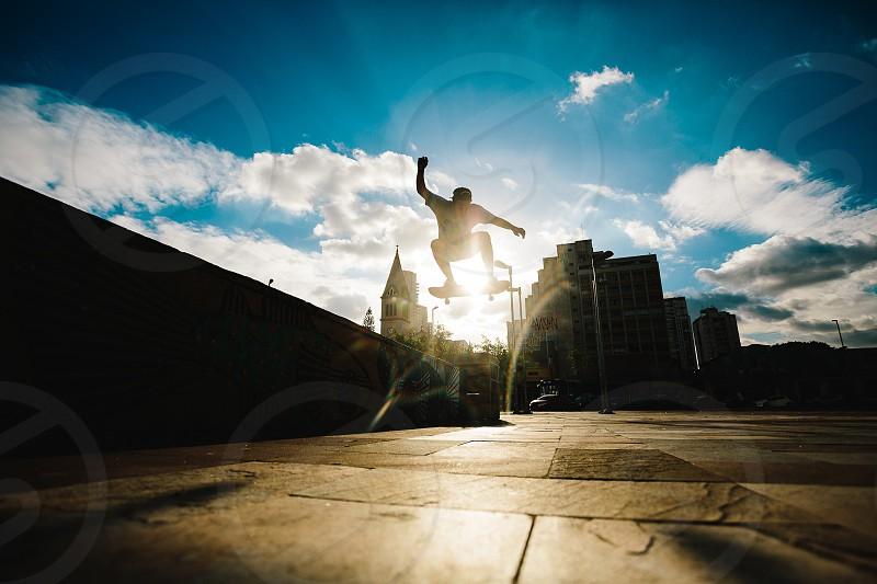 Skate skating silhoutte photo