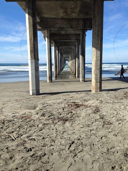 La Jolla San DiegoCalifornia  under the pier  photo