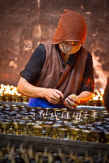 Prayer Candles Tibet China photo