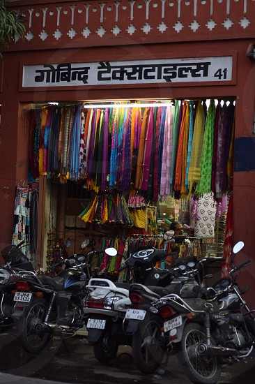 Bikes at the bazaar photo