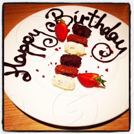 Birthday chocolate  photo