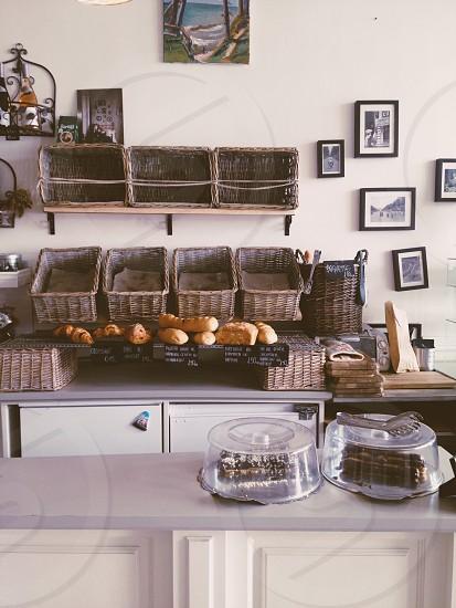 Cafe Liepaja Latvian bakery bread coffee shop Europe. photo