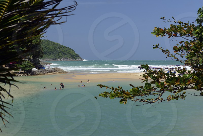 the Hat Nai Harn Beach near Rawai in the south on the Phuket Island in the south of Thailand in Southeastasia. photo
