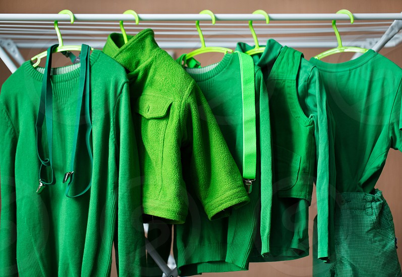 Mean and green dress clothes kid boys photo