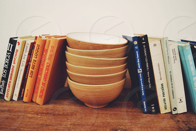 Buenos aires Argentina bowls and books photo